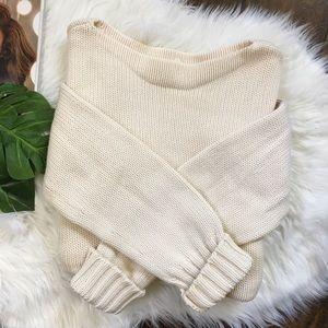 J. Crew Cotton Wide-Rib Crew Neck Sweater